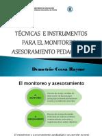 Tecnicas e Instrumentos Para El Monitoreo Pedagogico