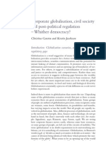 2007-11 - Corporate globalisation, civil society and post-political regulation - whither democracy?