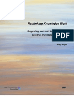 Rethinking Knowledge Work - Supporting Work and Learning Through Personal Knowledge Management