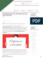 El Fracaso No Es Una Opción - Failure It's Not an Option _ Spanish Podcast
