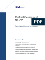 Contract Management SAP