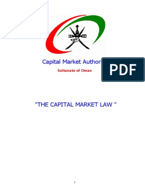 Oman Capital Market Law | Securities (Finance) | Board Of Directors