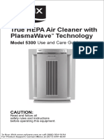 Winix 5300 Plasmawave Air Cleaner Owners Manual