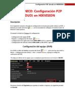 Configuración P2P (Cloud) en HIKVISION