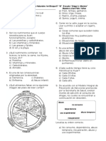 Examen Ciencias 1er Bloque