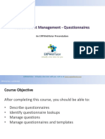 Configuring Questionairre in Fusion Talent Management