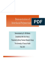 Inter Facial Polymerization Demonstration