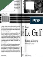 LE GOFF, Jacques. Pensar La Historia