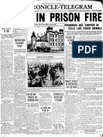 Chronicle front page -- Ohio Penitentiary fire