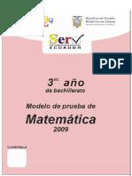 Prueba Modelo Matematica III Bach
