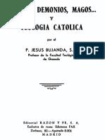 Bujanda J.- Angeles Demonios Magos Y Teologia Catolica