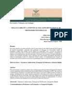 2012 - Criação Narrativa Audiovisual Para Letramento Digtial de Professores Em Formação