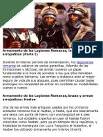 Armamento Legiones romanas