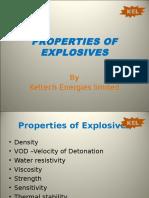 Properties of Explosives