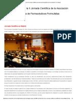 Conclusiones de La II Jornada Científica de La Asociación Española de Farmacéuticos Formulistas