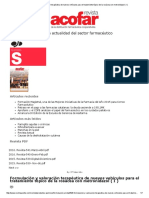 Formulación y Valoración Terapéutica de Nuevos Vehículos Para El Tratamiento Tópico de La Rosácea Con Metronidazol ( I )