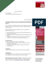 Freie Mitarbeit Redaktion architekturvideo.de