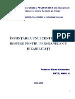 Popescu Elena Alexandra- Centrul de Tip Respiro Pentru Persoane Cu Dizabilităţi
