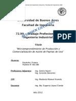 Aceite de Pepitas de Uva Franco Esposito