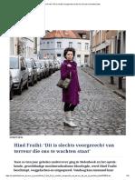 Hind Fraihi_ 'Dit is Slechts Voorgerecht Van Terreur Die Ons Te Wachten Staat'