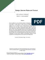 Referendum Design, Quorum Rules and Turnout