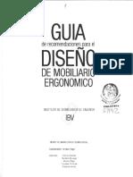 Guia de Recomendaciones Para El Diseño de Mobiliario Ergonomico I.B.V
