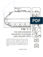 FM 7-7 the Mechanized Infantry Platoon and Squad [15 March 1985]
