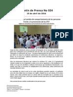 Boletín 024 Acciones Para El Cambio de Comportamiento de Las Personas Frente a La Prevención de Las ETV