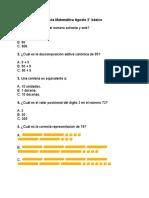 Guía Agosto Matemática Segundo