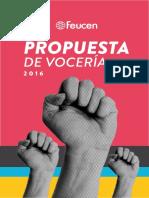 Programa Vocería FEUCEN - 2016