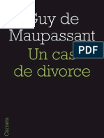 Un cas de divorce, de Guy de Maupassant