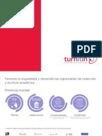 Turnitin International Brochure 26cmX17.8cm ES