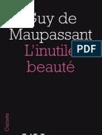 L'inutile beauté, de Guy de Maupassant