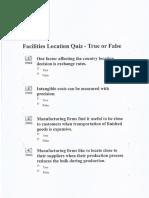 OM Facilities Location Quiz