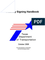 Freeway Sign TxDOT
