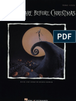Danny Elfman the Nightmare Before Christmas Piano Sheet