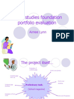 Media Studies Foundation Portfolio Evaluation