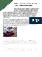 Onoranze Funebri A Milano, Funerale Comunale, Funerale Economico A Basso Costo, Pompe Funebri Milano.