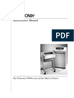 Printronix P5000 Service Manual