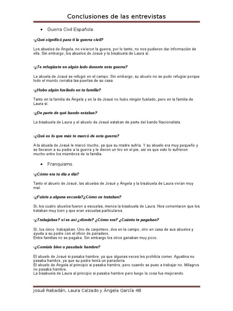 Conclusiones de Las Entrevistas