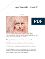 12 Frases Geniales de Leonardo Da Vinci