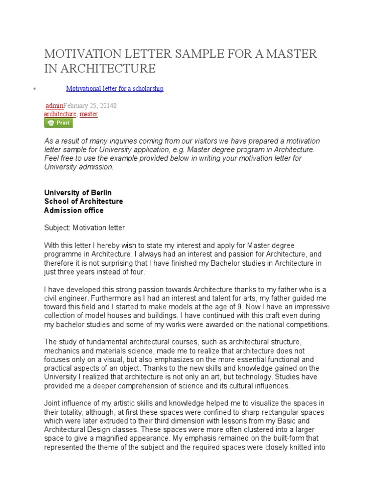 motivation letter for studying a master degree in international relations Master in international relations (main) two-year english-language master's degree programme provides students with the knowledge and a motivation letter.