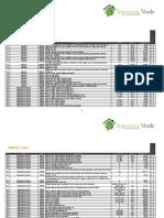 Price List Ingeniería Verde