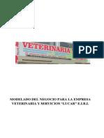 """Modelado Del Negocio Para La Empresa Veterinaria y Servicios """"Lucar"""" e.i.r.l"""