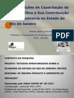 As condições de capacitação da mão de obra e sua contribuição para a indústria no Estado do Rio de Janeiro