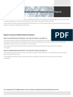 Methyl Chloride Plant Cost