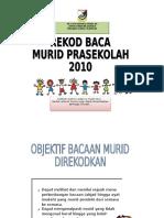 Contoh Rekod Baca Murid Prasekolah 2016
