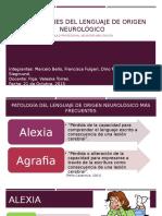 Alteraciones Del Lenguaje de Origen Neurológico