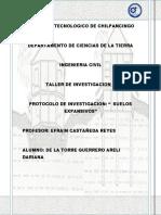 Protocolo de Inv. Arcillas Expansivas Final