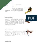 HERRAMIENTAS DE CARPINTERIA, CLASES DE MADERA DE GUATEMALA, CARPINTERIA NAVAL, INDUSTRIAL.docx